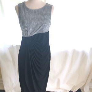 Midi black and silver drapes dress-size 12